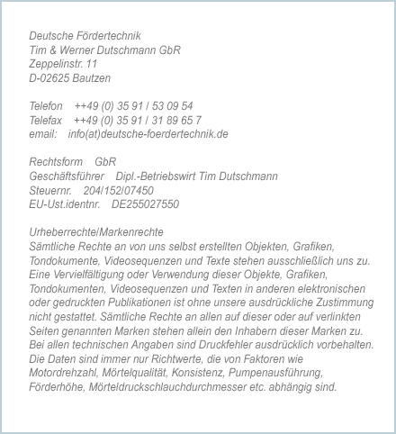 Hersteller Mischpumpen made in Germany